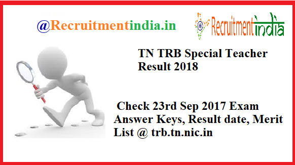TN TRB Special Teachers Result