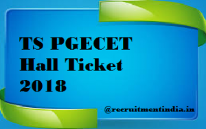 TS PGECET Hall Ticket 2018