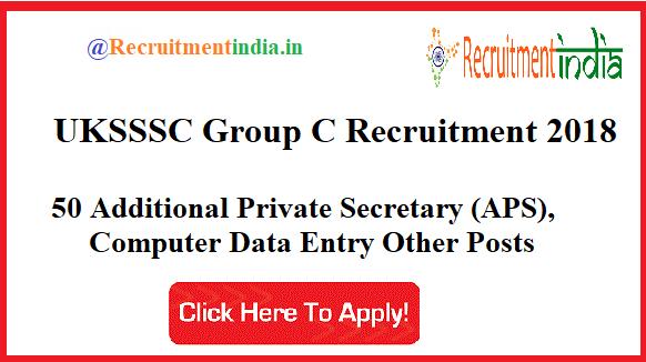 UKSSSC Group C Recruitment