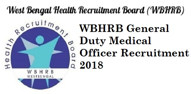 WBHRB General Duty Medical Officer Recruitment