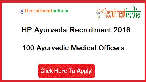 HP Ayurveda Recruitment