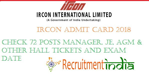 IRCON Admit Card