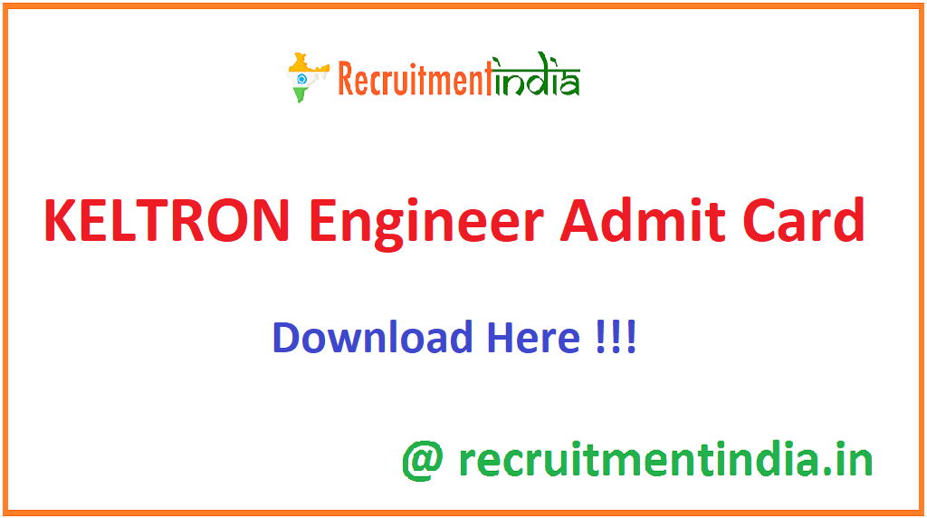 KELTRON Engineer Admit Card