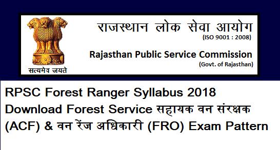 RPSC Forest Ranger Syllabus