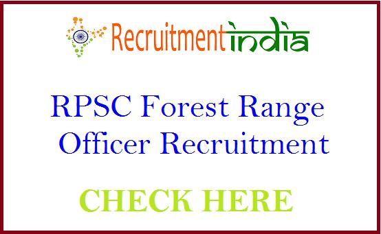 RPSC Forest Range Officer Recruitment