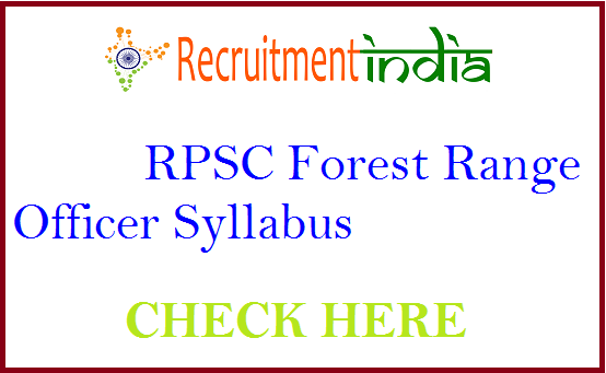 RPSC Forest Range Officer Syllabus