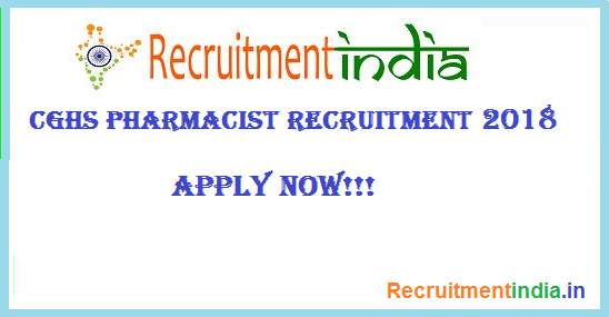 CGHS Pharmacist Recruitment