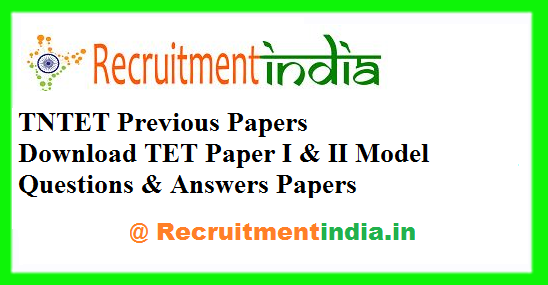 TNTET Previous Papers