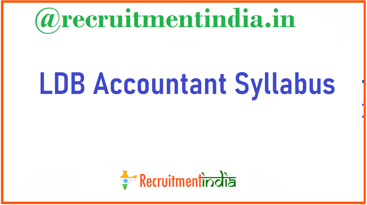 LDB Accountant Syllabus