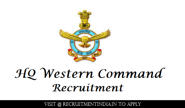 HQ Western Command Recruitment