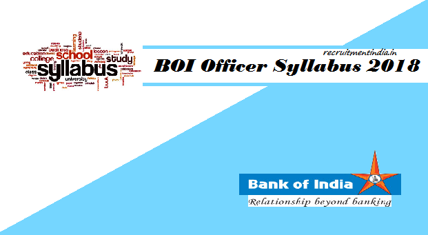 BOI Officer Syllabus