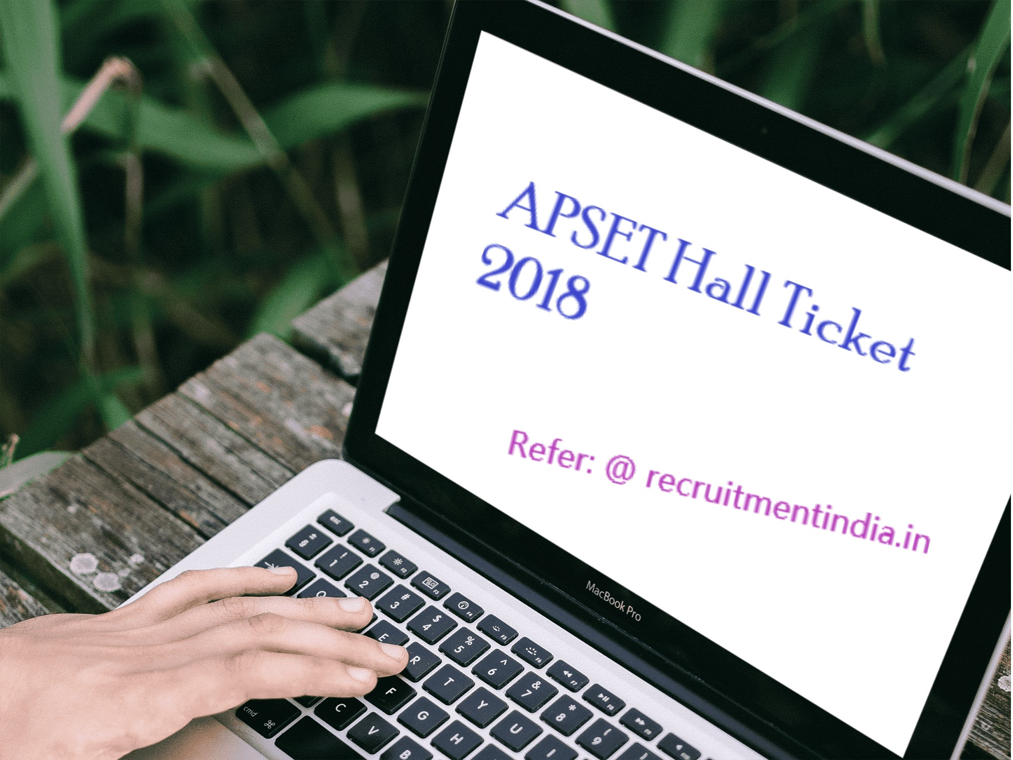 APSET Hall Ticket 2018