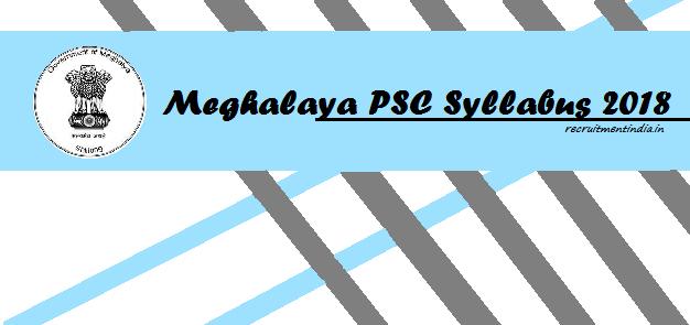 Meghalaya PSC LDA Syllabus