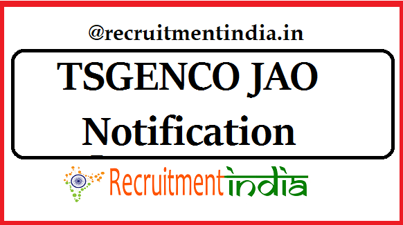 TSGENCO JAO Notification