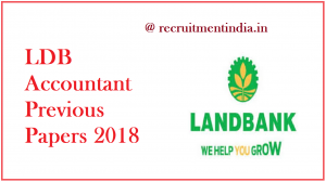LDB Accountant Previous Papers 2018