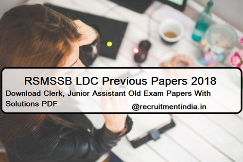 RSMSSB LDC Previous Papers