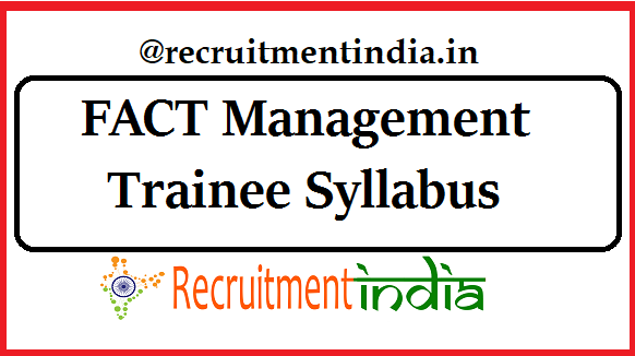 FACT Management Trainee Syllabus
