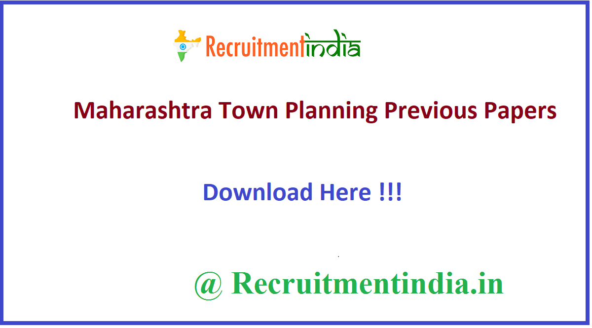 Maharashtra Town Planning Previous Papers