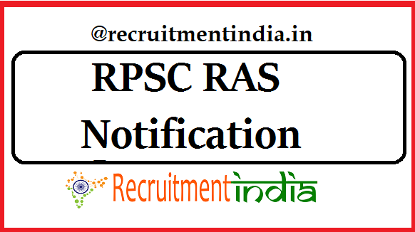 RPSC RAS Notification