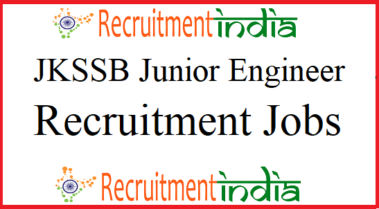 JKSSB Junior Engineer Recruitment