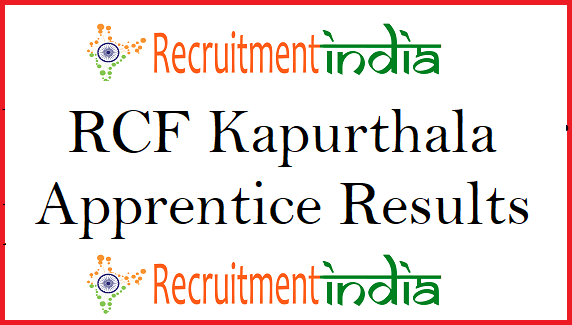 RCF Kapurthala Apprentice Results