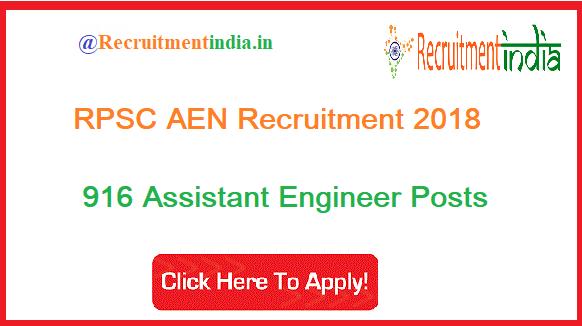 RPSC AEN Recruitment