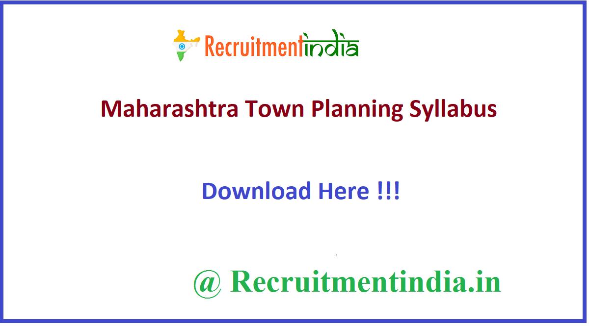 Maharashtra Town Planning Syllabus