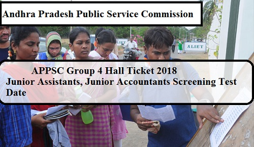 APPSC Group 4 Hall Ticket