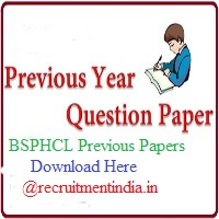 BSPHCL Previous Papers