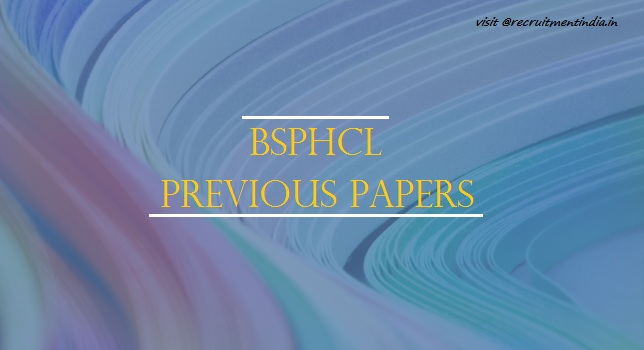 BSPHCL Jr Accounts Clerk Previous Papers