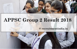 APPSC Group 2 Result 2018