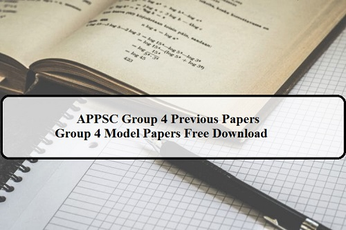 APPSC Group 4 Previous Papers
