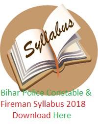 Bihar Police Syllabus