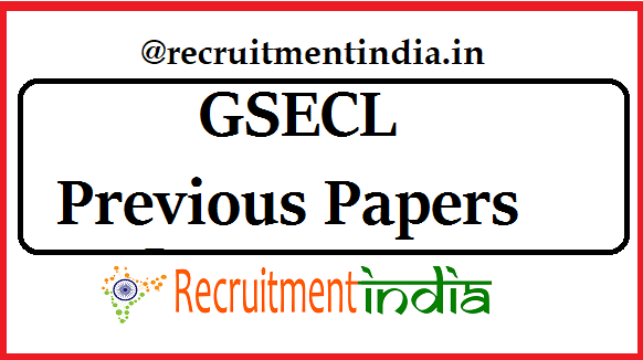 GSECL Previous Papers