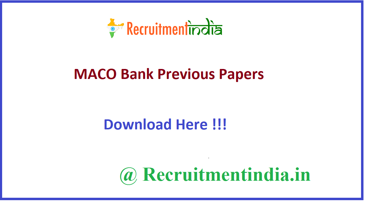 MACO Bank Previous Papers