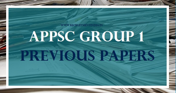 APPSC Group 1 Previous Papers