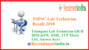 TSPSC Lab Technician Result