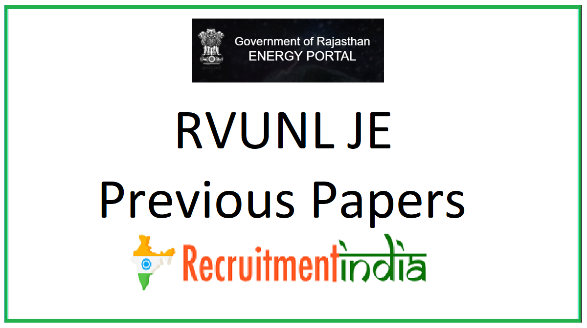 RVUNL JE Previous Papers