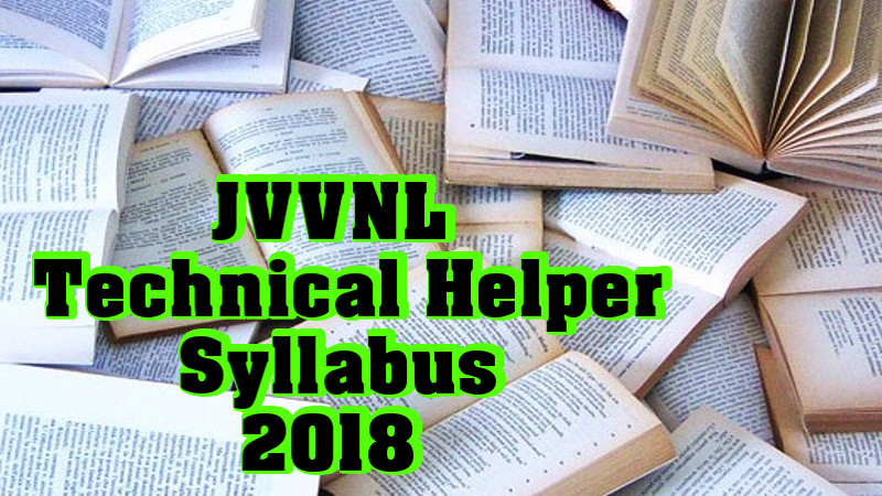 JVVUNL Technical Helper Syllabus