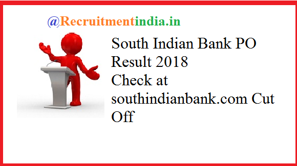 South Indian Bank PO Result