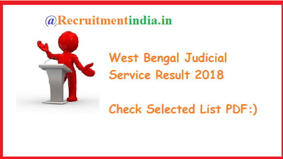 West Bengal Judicial Service Result