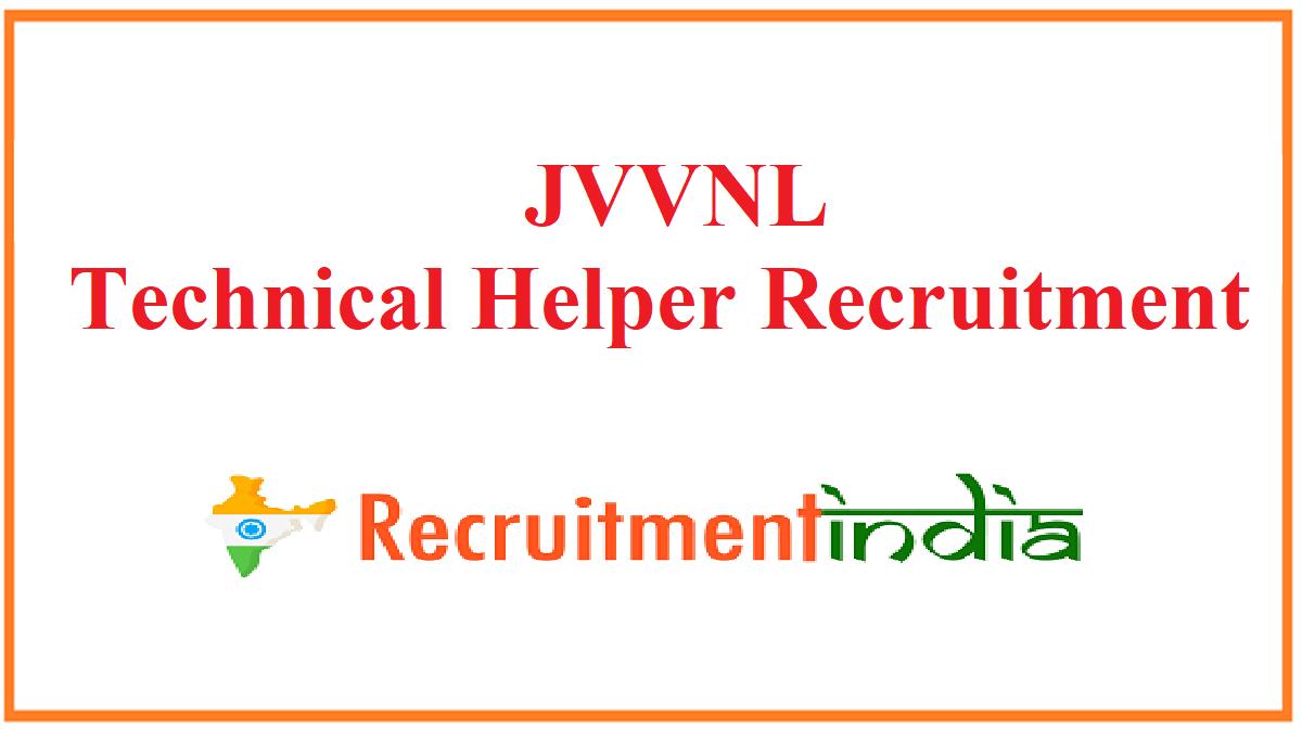 JVVNL Technical Helper Recruitment