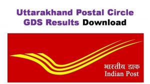 Uttarakhand Postal GDS Result