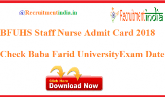 BFUHS Staff Nurse Admit Card