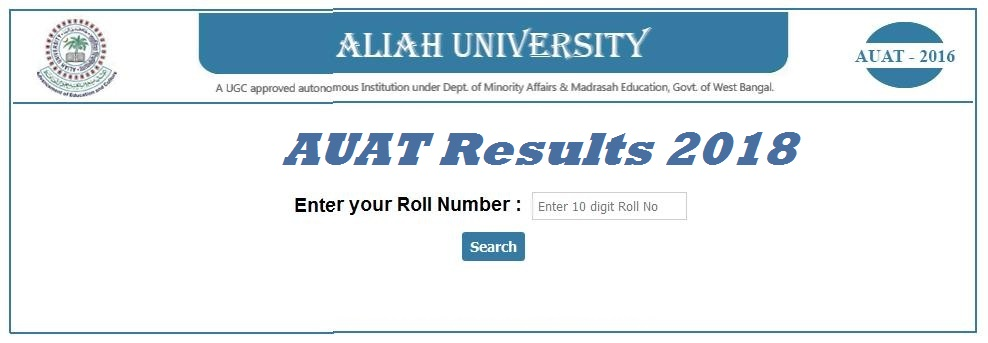 AUAT Results 2018 | UG Results Released, Rank Card(Score Card) Available