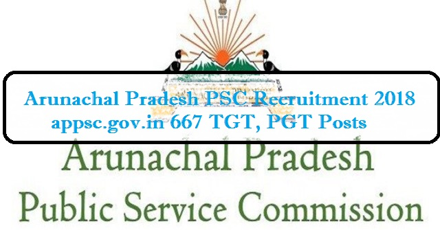 Arunachal Pradesh PSC Recruitment
