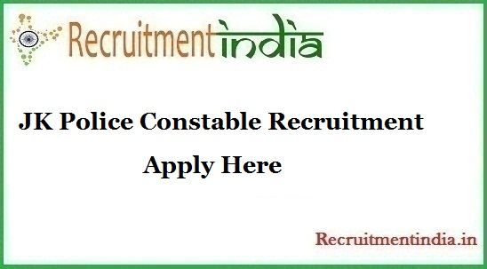 JK Police Constable Recruitment