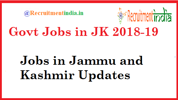 Govt Jobs in JK
