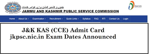 JKPSC KAS Admit Card