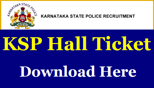 Karnataka Armed Police Constable Admit Card
